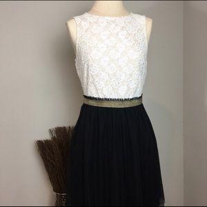 NWOT📍Speechless Lace Cream & Black Flowy Dress